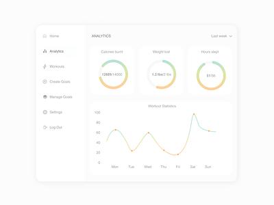 Daily UI #018-  Analytics Chart healthy health app healthcare workout analitics app analyticschart 018 uiux dailyuichallenge design uxui colors ux ui design art design app dailyui