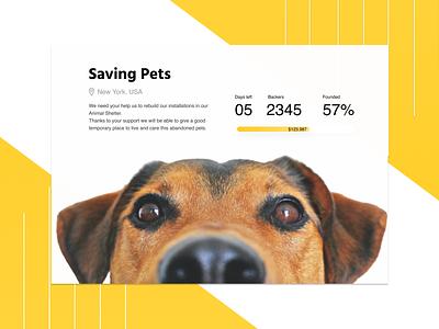 Crowdfunding Campaign dailyuichallenge design ux non-profit nonprofit ngo dog animalshelter animal ui design app dailyui crowdfunding crowdfunding campaign 032