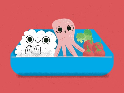 Sushi N Sake Illustrations Box texture vector illustrator sushirestaurant sushi bentobox bento food creativity ai illustration illo