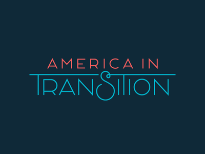 America in Transition logo social justice documentary transgender queer lgbtq typography lettering vector identity brand logo