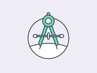 Compass tool line icon