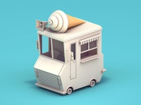 Low poly ice cream truck - WIP