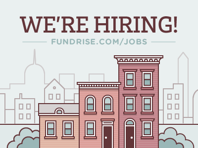 Fundrise Is Hiring crowdfunding real estate buildings city washington capitol washington monument muted illustration vector