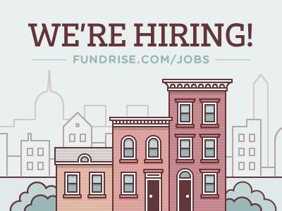 Fundrise Is Hiring crowdfunding real estate buildings city washington capitol washington monument muted illustration vector