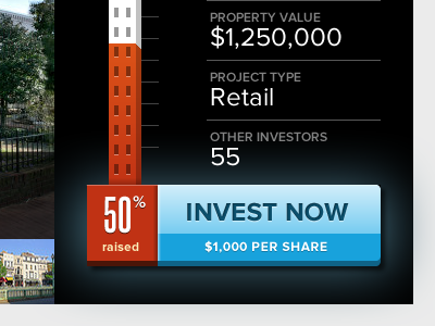 Invest Now call to action steelfish proxima nova red orange blue button