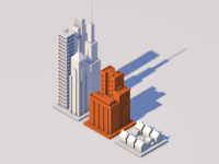 Real Estate Project Sizes investing real estate isometric 3d orange fundrise