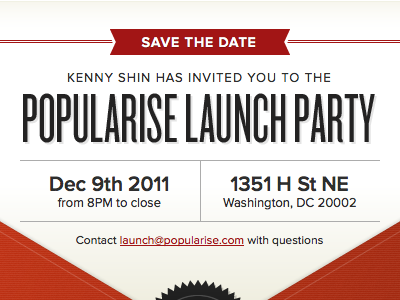 email save the date by chris brauckmuller dribbble