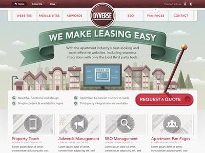 Homepage homepage red green wood brown avenir