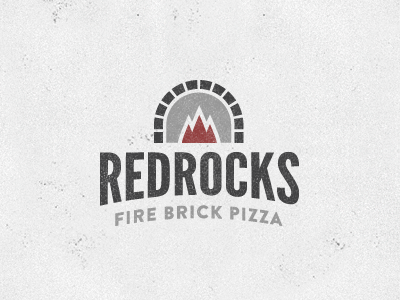 RedRocks Pizzeria league gothic brandon grotesque logo
