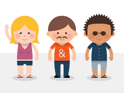 Playful Characters illustration flat bright vector
