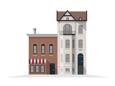 Washington DC Buildings buildings real estate investing illustration