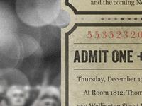 Themed Christmas Invite