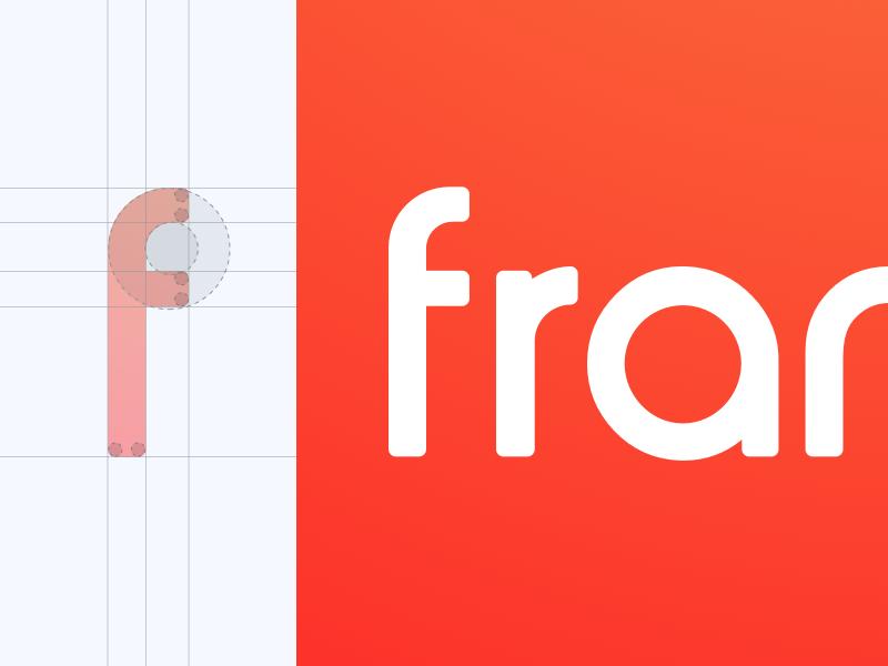 Dribbble frankly custom font