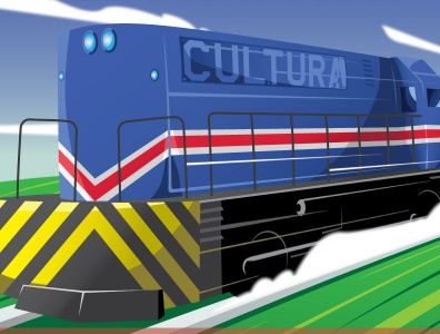 Train Poster design vector illustration