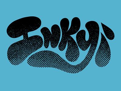 Inky illustration hand lettered hand lettering handlettered handlettering digital graffiti graffiti