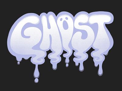 Ghost illustration wordmark ghost halloween handlettering hand lettering street art digital graffiti graffiti raster