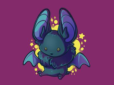 Goin' Batty character design kawaii spot illustration cute animal bat halloween character art character illustration raster illustration