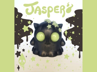 Jasper (Glow Star) stars ghost glow in the dark illustration product photo toy design resin toy art toy mascot character design