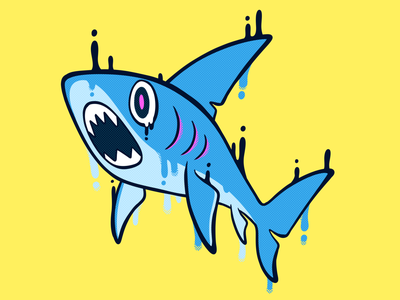 Gummy Shark childrens illustration street art animal illustration shark graphic illustration character halftone graffiti spot illustration character illustration illustration