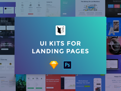 UI Kits for Landing Pages