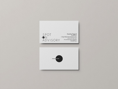 Carte visite Spot-on Advisory card design