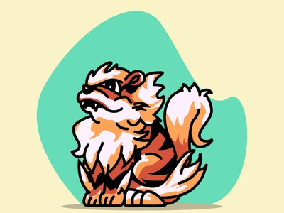 Arcanine No.59 arcanine adobe pokemon design illustration