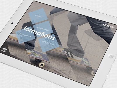 adibox is all in. ipad webdesign direction artistique adidas graphisme mobile