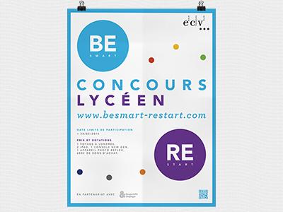 Ecv - concours étudiant graphisme print identité ecv école dart