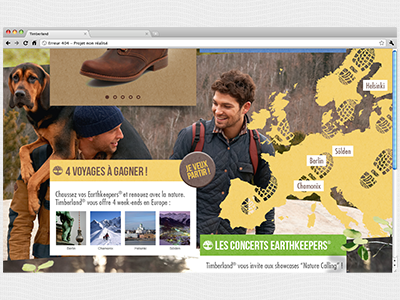 Site Internet Timberland  site internet webdesign one-page timberland