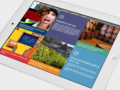 Application iPad - Pernod-Ricard application ipad pernod-ricard rapport activite apple ergonomie direction artistique graphisme