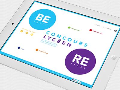 Ecv - Concours étudiant ecv internet école art minimal ipad webdesign apple graphisme direction artistique
