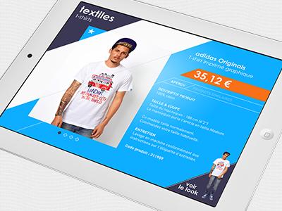 Myadidas foot adidas application ipad direction artistique ui ux ergonomie design interactif