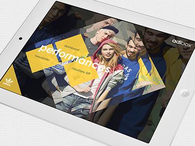 adibox is all in. foot adidas application ipad direction artistique ui ux ergonomie design interactif