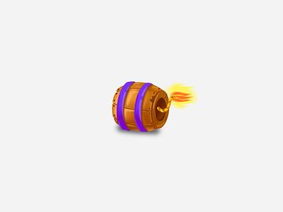 Bomb! blast wooden brushes design icon photoshop concept wacom game illustration