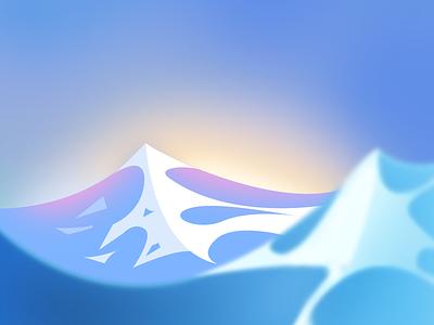 Rogue Waves landscape ocean background blue colorful wave illustration sea design photoshop
