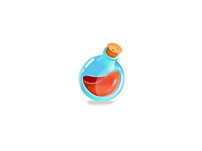 Potion magical poison spells potion bottle bottle chemistry magic blue red photoshop game illustration elixir