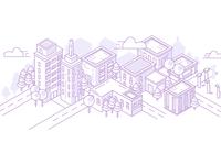 Isometric City View