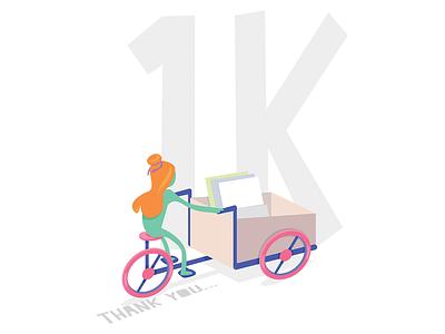 1K followers on Instagram. Thank you all for your support. gamedesign art instagram followers 1k illustrator design 2d illustration vector