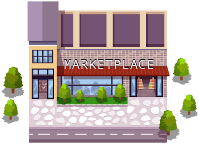 Marketplace marketplace build wacom illustrator game design 2d illustration vector