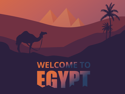 Egypt Background 2 illustrations illustration wacom adobe camel animal desert egypt cover concept background vector 2d