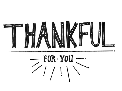 Thankful typography type hand lettering