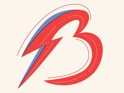 Bowie B b letter b typography type handlettering bowie david bowie