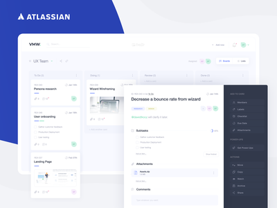 Atlassian Trello - Redesign Concept app ui redesign concept ui deisgn concept redesign kanban board kanban clean clean design blue web aplication application task management task manager ui designer ui design trello