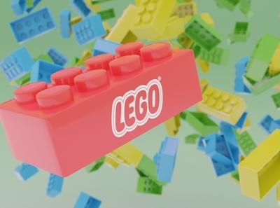 LEGO bricks blender3d 3d model 3d render branding