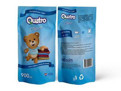 Quatro doypack wacom paraguay photoshop adobe drawing packaging branding illustration design
