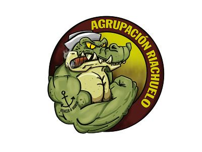 Agrupación Riachuelo logo shield wacom photoshop adobe paraguay drawing illustration design