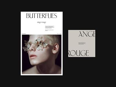 Butterflies. digital typography web uidesign digital design visual design ui design
