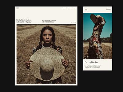 Visual Concept. Sound Wave Magazine. webdesign branding web uidesign digital design ui visual design typography digital design