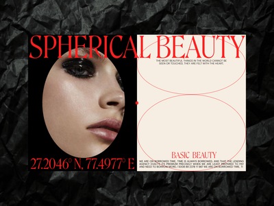 Basic Beauty Concept. portfolio site web uxdesign digital design uidesign ui visual design typography digital design