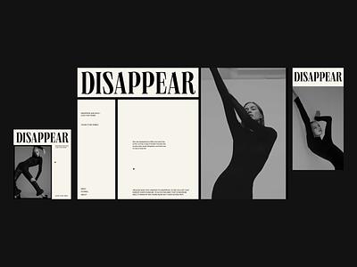 Disappear webdesign branding web uidesign digital design ui visual design typography digital design